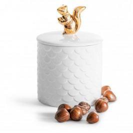 Pojemnik ceramiczny na żywność SAGAFORM WINTER WIEWIÓRKA BIAŁY 0,45 l