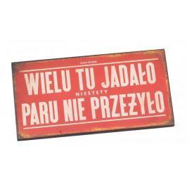 Tabliczka z napisem dekoracyjna drewniana PAN DRAGON WIELU TU JADŁO