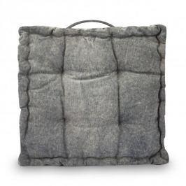 Poduszka / Siedzisko na krzesło bawełniana EXCELLENT HOUSEWARE VINTAGE EDITION SZARA 40 x 40 cm