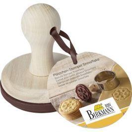 Stempel do ciastek drewniany BIRKMANN ŚNIEŻYNKA