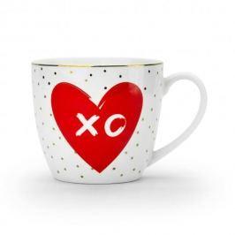 Kubek porcelanowy DUO LOVE XO BIAŁY 460 ml