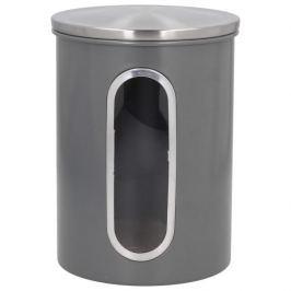 Pojemnik metalowy z okienkiem FLORINA COLIBER SZARY 3 l