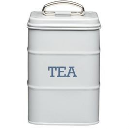 Puszka na herbatę metalowa KITCHEN CRAFT LIVING NOSTALGIA SZARA