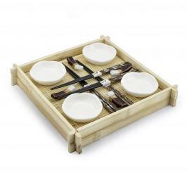 Zestaw do sushi ceramiczny SUSHIMASTER BIAŁY (17 el.)