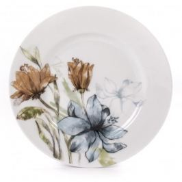 Talerz deserowy porcelanowy FLORINA FLORIS BIAŁY 19 cm