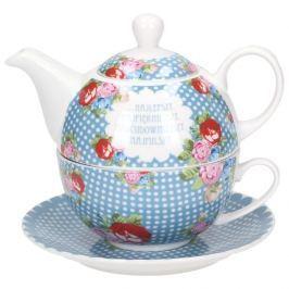 Dzbanek do herbaty i kawy ceramiczny z filiżanką i spodkiem WYJĄTKOWY DZIEŃ 0,45 l
