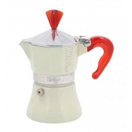 Włoska kawiarka aluminiowa ciśnieniowa GAT KISS ME CZERWONA - kafetiera na 1 filiżankę espresso