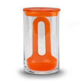 Pojemnik do odsączania żywności szklany PASABAHCE STREAM POMARAŃCZOWY