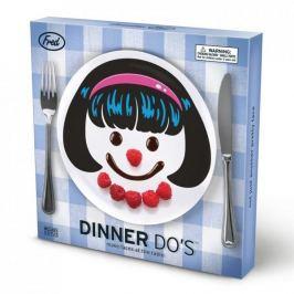 Komplet talerzy deserowych plastikowych INVOTIS FRED HAIR GIRL na 3 osoby (3 el.)