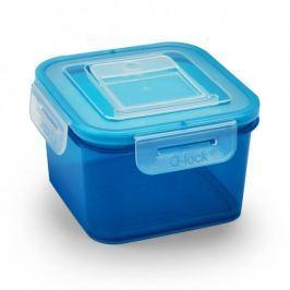 Pojemnik na żywność plastikowy BRANQ QLOCK EFFECTIVE NIEBIESKI 1,1 l