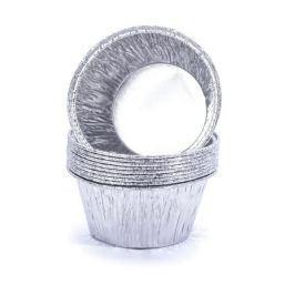 Papilotki / Foremki do muffinek aluminiowe JAN NIEZBĘDNY SILVER 10 szt.