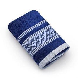 Ręcznik do rąk bawełniany MISS LUCY SANNY GRANATOWY 30 x 50 cm