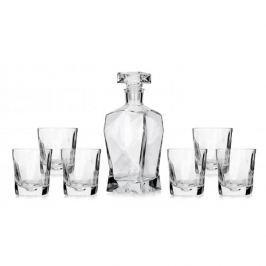 Karafka szklana z 6 szklankami do whisky PIOTR 0,8 l
