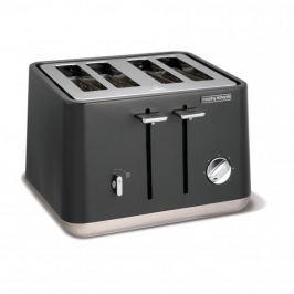 Toster / Opiekacz do kanapek elektryczny stalowy MORPHY RICHARDS ASPECT SZARY 1800 W