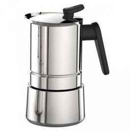 Kawiarka stalowa ciśnieniowa PEDRINI STEEL MOKA - kafetiera na 6 filiżanek espresso
