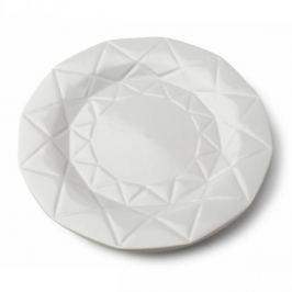 Talerz obiadowy płytki ceramiczny AFFEK DESIGN ADEL GREY SZARY 24 cm