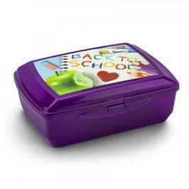 Śniadaniówka / Pojemnik na kanapki plastikowy BRANQ BACK TO SCHOOL FIOLETOWA