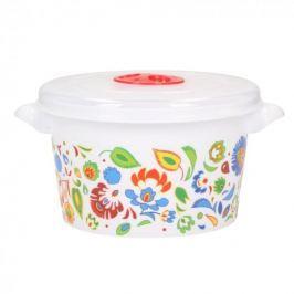 Pojemnik na żywność plastikowy AMBITION FOLK BIAŁY 1,5 l