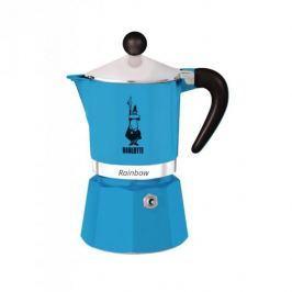 Kawiarka aluminiowa ciśnieniowa BIALETTI RAINBOW NIEBIESKA - kafetiera na 6 filiżanek espresso