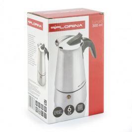 Kawiarka stalowa ciśnieniowa FLORINA LUNGO - kafetiera na 6 filiżanek espresso