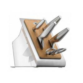 Noże kuchenne ze stali nierdzewnej w bloku WMF CHEF EDITION 5 szt.