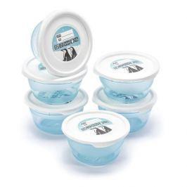 Pojemniki na żywność plastikowe MIA POLAR BŁĘKITNE 0,2 l 6 szt.