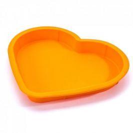Forma do pieczenia ciasta silikonowa TASTY SERCE POMARAŃCZOWA 28 x 23 cm