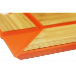 Taca bambusowa WOOD POMARAŃCZOWA 45 x 35 cm