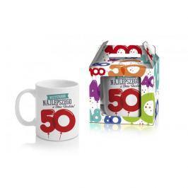 Kubek ceramiczny boss BALONIKI 50-te URODZINY 380 ml