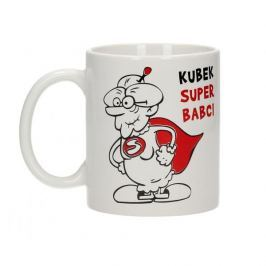 Kubek ceramiczny boss z napisem QBEK SUPER BABCI 300 ml