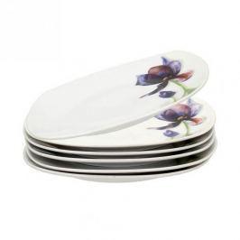 Komplet talerzy deserowych porcelanowych FLORINA IRYS BIAŁE 6 szt.