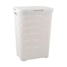 Brudownik / Kosz na pranie i bieliznę plastikowy CURVER STYLE KREMOWY 60 l