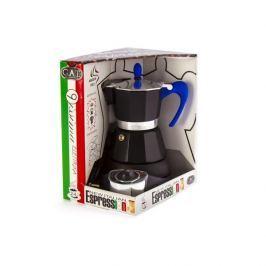 Kawiarka elektryczna aluminiowa ciśnieniowa GAT 9ISSIMA MOKA NIEBIESKA - kafetiera na 4 filiżanki espresso