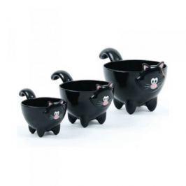 Miarki kuchenne ceramiczne MSC INTERNATIONAL MEOW CZARNE 3 szt.