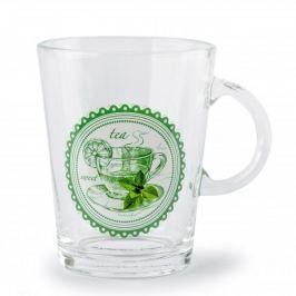 Kubek szklany / Szklanka FLORINA PATTERN MIX WZORÓW 400 ml