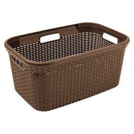 Brudownik / Kosz na pranie i bieliznę plastikowy CURVER NATURAL STYLE JASNO BRĄZOWY 45 l