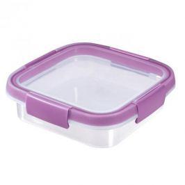 Pojemnik na żywność plastikowy CURVER SMART FRESH KWADRATOWY FIOLETOWY 0,6 l