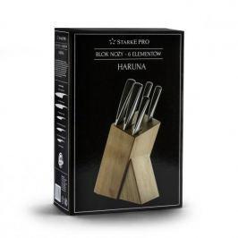 Noże kuchenne ze stali nierdzewnej w bloku STARKE PRO HARUNA 5 szt.
