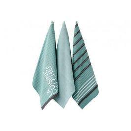 Ręczniki kuchenne bawełniane LADELLE LA CUISINE ZIELONE 3 szt.