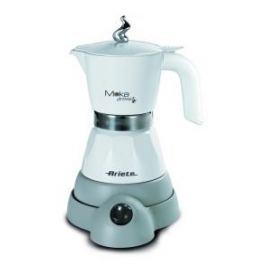 Kawiarka elektryczna aluminiowa ciśnieniowa ARIETE MOKINA - kafetiera na 4/2 filiżanki espresso BIAŁA