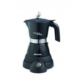 Kawiarka elektryczna aluminiowa ciśnieniowa ARIETE MOKINA - kafetiera na 4/2 filiżanki espresso CZARNA