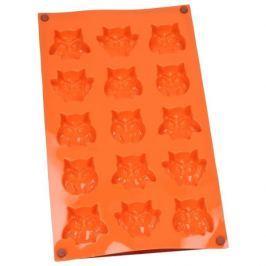 Forma do 15 czekoladek silikonowa SILIKOMART MINI FAIRY OWLS POMARAŃCZOWA