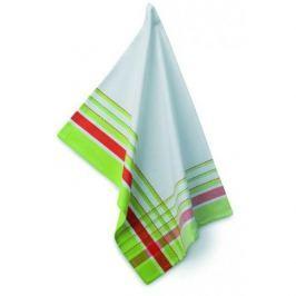 Ręcznik kuchenny bawełniany KELA AMALIE BIAŁO-ZIELONY 70 x 50 cm