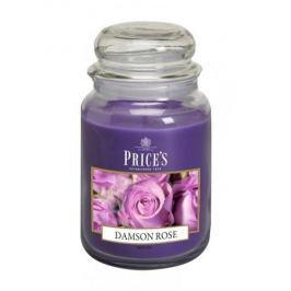 Świeca zapachowa woskowa w słoiku PRICE'S CANDLES DAMSON ROSE FIOLETOWA