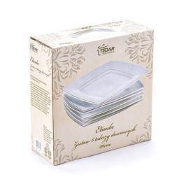 Komplet talerzy porcelanowych deserowych ETIUDA BIAŁE na 6 osób (6 el.)