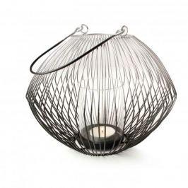 Lampion ozdobny metalowy MONDEX CEDRIC OMBRE CZARNY 17,5 cm