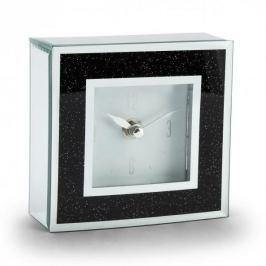 Zegarek stojący szklany DUO BLACK GLITTER CZARNY