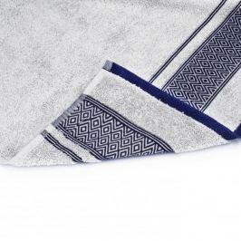Ręcznik kąpielowy bawełniany MISS LUCY SANNY SREBRNY 70 x 140 cm