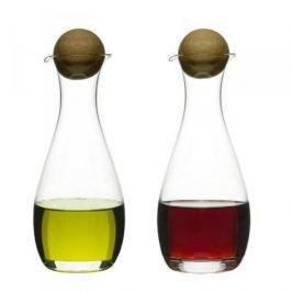 Butelki na oliwę i ocet szklane SAGAFORM OVAL OAK 0,3 l 2 szt.