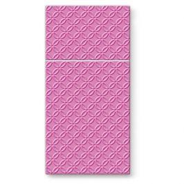 Serwetki papierowe dekoracyjne PAW POCKET RÓŻOWE  16 szt.